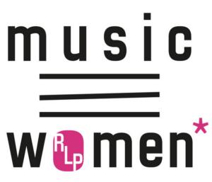 Music RLP women* Logo in schwarz und pink