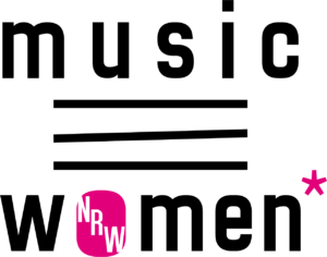Music NR Women* Logo in schwarz und pink